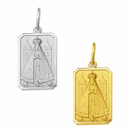 Medalha de Nossa Senhora Aparecida em Ouro - Retangular