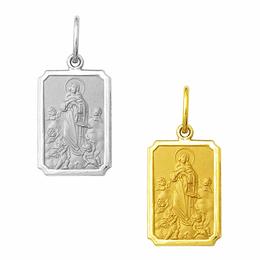 Medalha em Ouro de Nossa Senhora da Conceição - Retangular