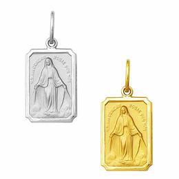 Medalha em Ouro de Nossa Senhora das Graças - Retangular