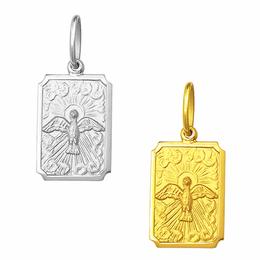 Medalha em Ouro do Divino Espírito Santo - Retangular