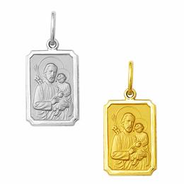 Medalha de São José em Ouro - Retangular