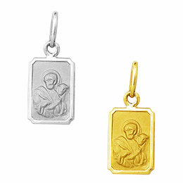 Medalha em Ouro de São Lucas - Retangular
