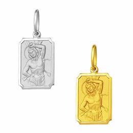 Medalha de São Sebastião em Ouro - Retangular