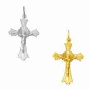 Crucifixo em Ouro com Resplendor Trabalhado