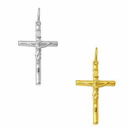 Crucifixo Palito em Ouro - Sextavado