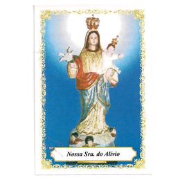Nossa Senhora do Alívio - Pacote c/ 100 Santinhos de Papel