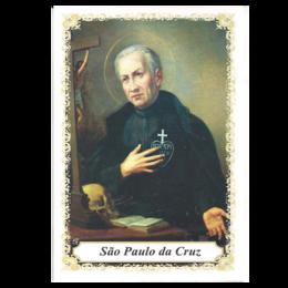 São Paulo da Cruz - Pacote c/ 100 Santinhos de Papel