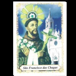 São Francisco das Chagas - Pacote c/ 100 Santinhos de Papel