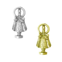 Imagem de bolso Menino Jesus de Praga em Metal de 2,4cm