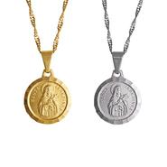 Medalha Folheada de Santa Teresinha