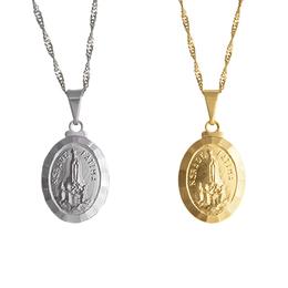 Medalha Folheada de Nossa Senhora de Fátima