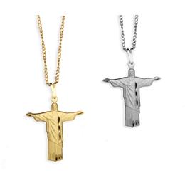 Gargantilha Folheada e Diamantada do Cristo Redentor