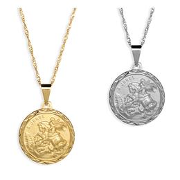 Medalha Folheada de São Jorge - 23mm