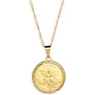 Medalha Folheada de São Miguel - Dourada