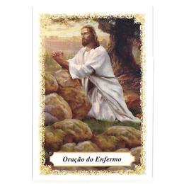 Oração do Enfermo - Pacote c/100 Santinhos de Papel