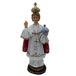 Imagem do Menino Jesus de Praga em Resina de 26,5cm