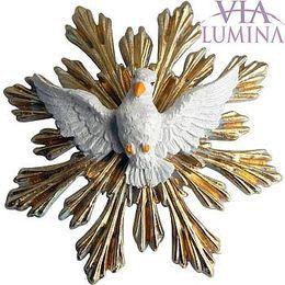 Imagem do Divino Espírito Santo para Parede em Resina de 16,5cm