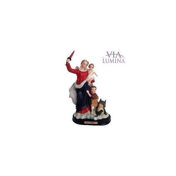Imagem de Nossa Senhora da Defesa em Resina de 17cm