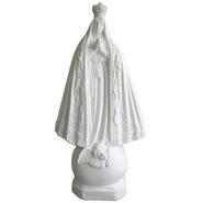 Nossa Senhora Aparecida Manto Trabalhado - Gesso Branco - 29,8cm