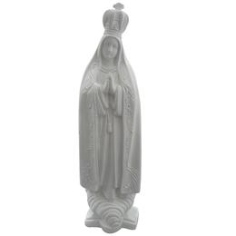 Nossa Senhora de Fátima - Gesso Branco - 40cm