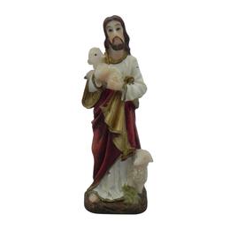 Imagem de Jesus Bom Pastor em Resina de 10cm