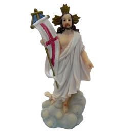 Imagem de Jesus Ressuscitado em Resina de 12cm