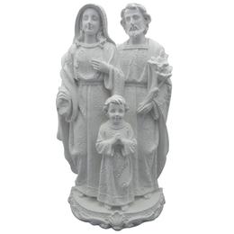 Sagrada Família - Gesso Branco - 29cm