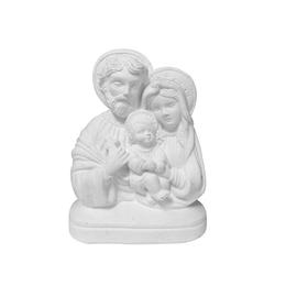 Busto da Sagrada Família - Gesso Branco - 13cm