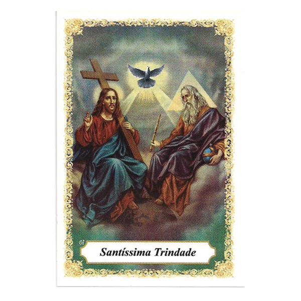 Santíssima Trindade - Pacote c/ 100 Santinhos de Papel
