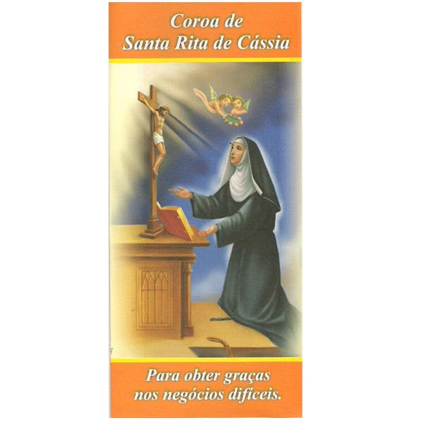 folheto coroa de santa rita de cássia via lumina