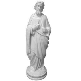 São Judas Tadeu - Gesso Branco - 34cm