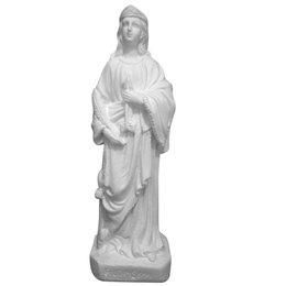 Santa Filomena - Gesso Branco - 22cm
