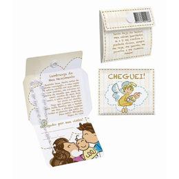 Lembrança Cartão de Nascimento com Mini Terço