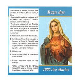 Folheto da Reza das 1000 Ave Marias