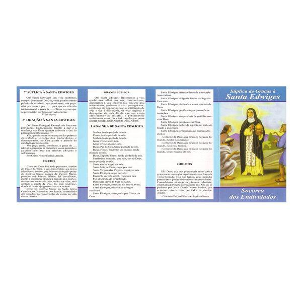 Folheto da Súplica de Graças de Santa Edwiges