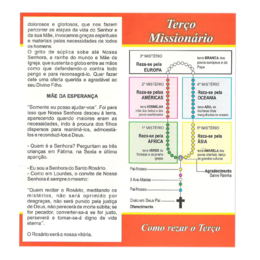 Folheto do Terço Missionário