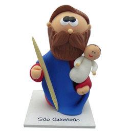 Imagem de São Cristovão em Biscuit de 8cm