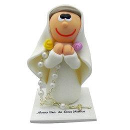 Imagem de Nossa Senhora da Rosa Mística em Biscuit