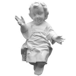 Menino Jesus para Manjedoura de Gesso Branco de 25cm