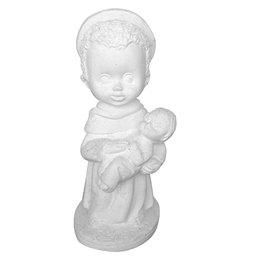 São Benedito Criança - Gesso Branco - 14,5cm