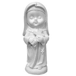 Santa Rita de Cássia Criança - Gesso Branco