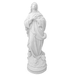 Nossa Senhora Imaculada Conceição - Gesso Branco - 33cm