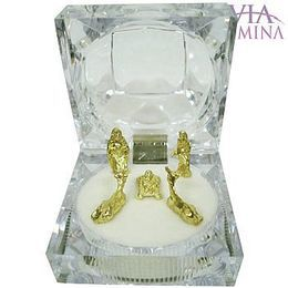 Mini Presépio - Dourado - Caixa Diamante
