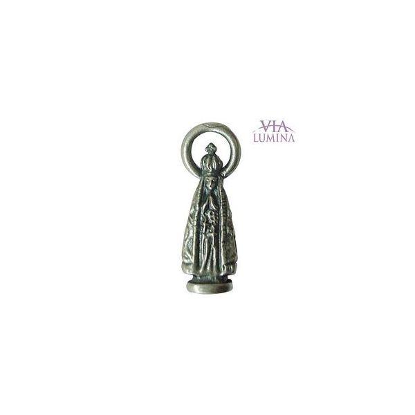 Nossa Senhora Aparecida - Metal - 2,5cm - Com Oração de Bolso