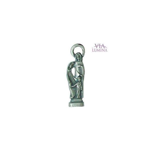 Sagrada Família - Metal - 2,5cm - Com Oração de Bolso