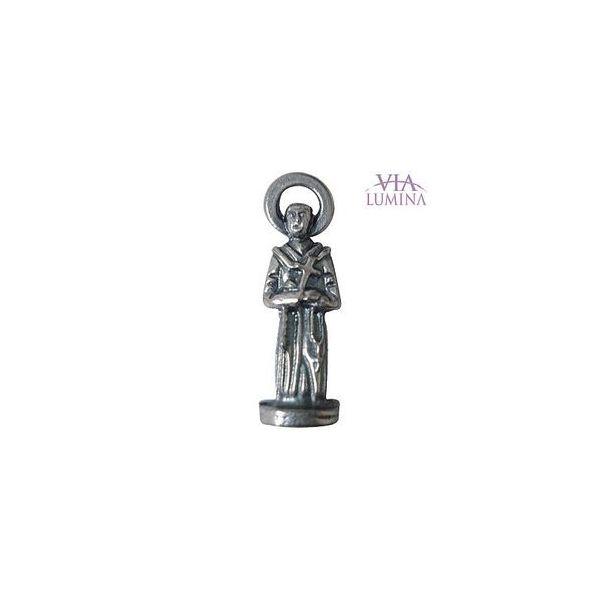 São Francisco - Metal - 2,5cm - Com Oração de Bolso