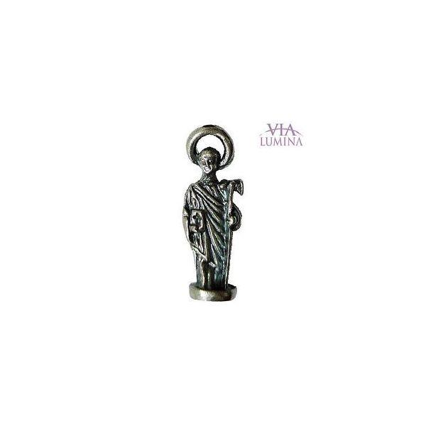 São Judas - Metal - 2,5cm - Com Oração de Bolso