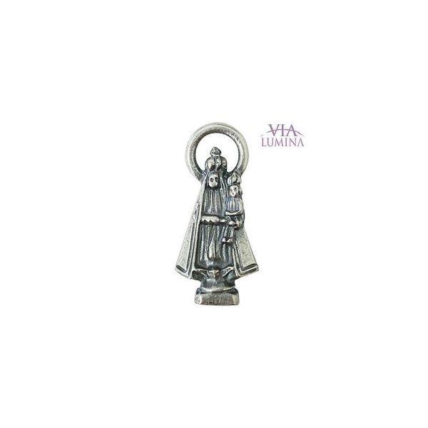 Nossa Senhora de Nazaré - Metal - 2,5cm - Com Oração de Bolso