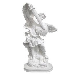 São Miguel Arcanjo - Gesso Branco - 30cm