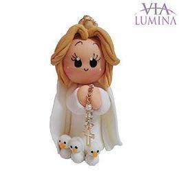 Nossa Senhora de Fátima - Biscuit - 7,5cm